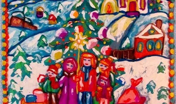 Рождественская елка для детей.